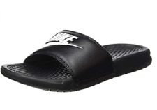 NEW Nike Men's Benassi Just Do It Athletic Sandal Black/White Size US 8