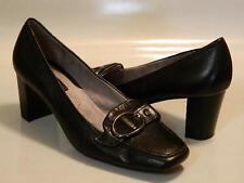LIZ & CO. Wynona Womens Pumps Shoes Heels Stacked Leather Black Sz 8.5M EUC Rare