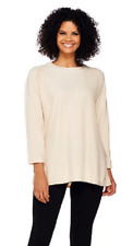 Isaac Mizrahi Live! SOHO Relaxed Pullover Sweater,Grain Heather, Size XXS, $69