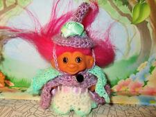 "3"" WITCH WISHNIK Troll doll vintage trolls dolls NEW HAIR EYES CAPE HAT DRESS"