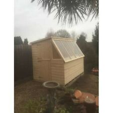 8x6 SOLAR POTTING SHED PENT ROOF (WOODEN SHED) (GARDEN SHED)  (GREEN HOUSE)