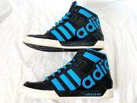 Adidas Mens Hard Court Hi Big Logo (G66146) Shoes Black/Blue Size 9