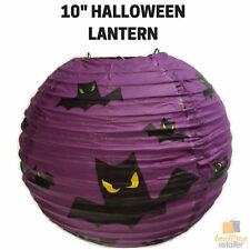 "10"" HALLOWEEN LANTERN Decoration Paper Party Decor Bats Hanging New"