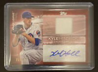 2020 Topps Series 2 Kyle Hendricks Major League Material Red Auto Relic #d 23/25