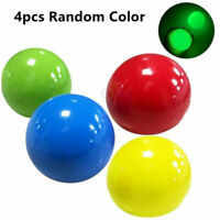 4pcs Balls Throw at Ceiling Decompression Ball Sticky Target Toys  Family Game