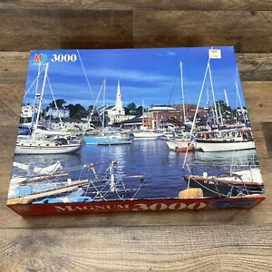 Milton Bradley Magnum Puzzle 3000 Pieces Camden Harbor, ME 1991 Vintage Sealed