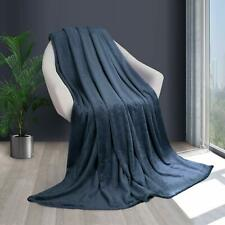 HOMFY Super Soft Bed Blanket Queen -Blue