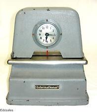 Vintage International Simplex Telechron Time Clock stamp recorder