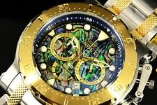 26505 Invicta 52MM Coalition Forces Chronograph Abalone Dial Two Tone Band Watch