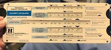 Vintage Honeywell Pneumatic Sensor-Controller Authority Calculator Slide Rule
