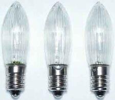 RICAMBIO LED CANDELA scanalata 3 12V 0,1W E10 TRASPARENTE warmws Hellum 912333