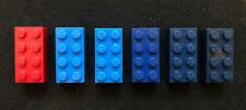 Rare Bayer 2x4 LEGO bricks old logo vintage red and blue