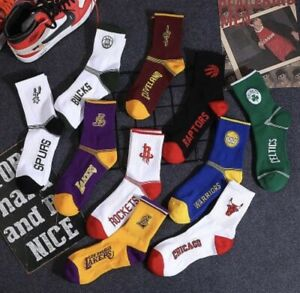 NBA Team Logo Socks, Short Crew Length (Large,10-13) Variety of Teams Available
