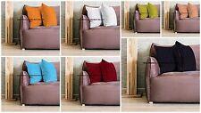 "5 PC Wholesale Lot Indian 16"" Solid Velvet Sofa Cushion Pillow Cover Home Decor"