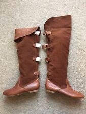 Ladies ALDO Boots Bucek Brown Leather Suede Size UK 5 RRP £130