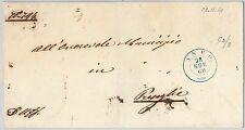 ITALIA REGNO: storia postale - LETTERA in FRANCHIGIA - Annullo AZZURRO di ANFO