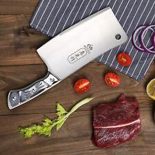 "Kitchen 7"" Cleaver Knife Chopper Butcher  Stainless Steel for Home Restaurant"