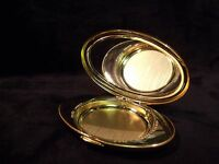 "Vintage Este'e Lauder Knowing Polished Goldtone 3"" Mirrored Compact"