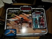 Star Wars Vintage Collection Poe Dameron's X-Wing Fighter + Zori Bliss FIgure!