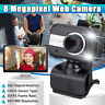 🔥 HD USB Auto Focus Network Webcam W/ Mic Clip Web Camera Cam PC Desktop Laptop