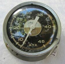 VINTAGE 'AIRGUIDE'  POWER BOAT 'SPEEDOMETER' 0-45 SEASPEED MPH NICKEL