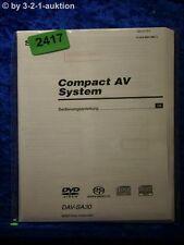 Sony Bedienungsanleitung DAV SA30 Compact AV System (#2417)