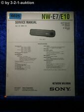 Sony Service Manual NW E7 /E10 Network Walkman (#6025)
