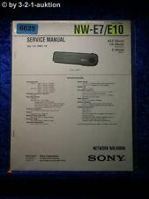 Sony Service Manual NW E7 /E10 Network Walkman (#6025)
