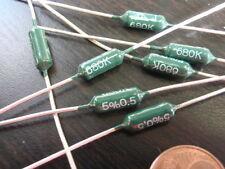 RARO! resistenza 680k Ohm 1,5w strato di carbone d4x11mm 8x VERDE 24159