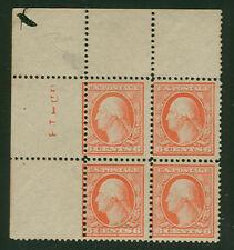 US #362 6¢ Bluish Paper Corner Mgn Blk of 4 PSE Cert