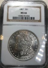 1887 MORGAN SILVER DOLLAR S$1 NGC MS66 MS-66 BETTER DATE !!  Blast White!