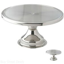 Serving Round Cake Stand Stainless Steel Tabletop Serveware Bakery Kitchen Tools