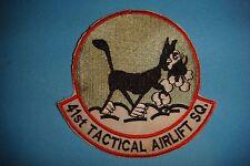 """VIETNAM WAR PATCH US 41st TACTICAL AIRLIFT SQUADRON  """" BLACK CAT """""""