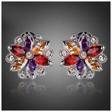 S5 Made Using Swarovski Crystals The Aliya Colorful Blossom Earrings $88