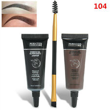 Brown Waterproof Tint Eyebrow Henna With Mascara Eyebrows Paint Brush Kits 104
