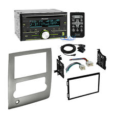 Pioneer Radio Stereo + Double DIN Dash Kit Wire Harness for 08-13 Nissan Titan