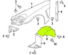 Porsche Panamera 10 - 16 OEM Fender Liner Splash Guard 97050412501 Front Left