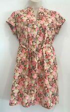 Sportscraft Liberty Shirt Dress Pink Floral Size 16
