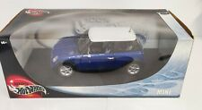Hot Wheels Mini Cooper Blue White 1:18 Collection Diecast