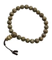 Braccialetto Mala Tibetano Rosario Perle IN Madreperla Da Ø 8.8mm Tibet 2565