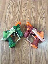TIGER LAZER TAG GUN SET 2 TEAM OPS LASER GUNS GREEN & BROWN 2004 ELECTRONIC