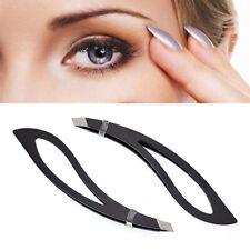 1PC Eyebrow Tweezers Clip Hair Removal Slant Tip Stainless Steel Makeup Tool New