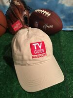 Rare TV Guide Television Throwback Channel Vintage Baseball Hat Cap H24