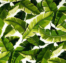 Richloom Balmoral Palm Outdoor Fabric, Green White Banana Leaf Fabric - by yard