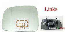 SPIEGELGLAS links für VW CADDY 3 2K 1/04- + T5 4/03- SPIEGEL GLAS mit HEIZUNG
