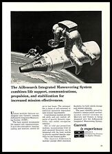 1965 Garrett AiResearch Vintage PRINT AD Aerospace Manufacture Outer Space B&W