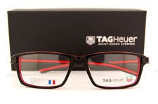 Brand New TAG Heuer Eyeglass Frames TRACK S 7601 001 Black/Red Men SZ 55