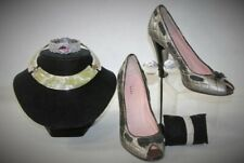 A 21 Vintage Women 8.5 Marc Jacobs Silver Pumps Costume Fashion Jewelry LOT Gift