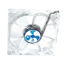 Antec TriCool 8cm Clear Computer Case Fan - 3 Speed, 3-Pin with 4-Pin Adapter