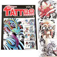 A4 80 Pages Skull and Bones Japanese Geisha Color Tattoo Art  Design Manuscript